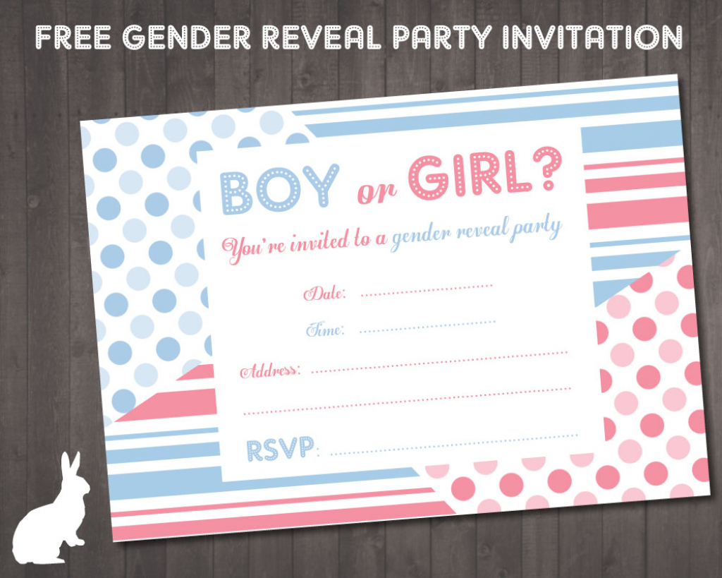 Free Gender Reveal Party Invitation | Free Party Invitationsruby | Printable Gender Reveal Voting Cards