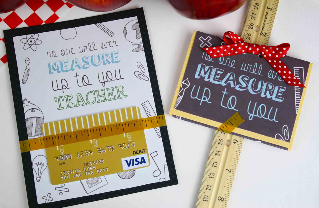 Free Gift Card Holder - Teacher Appreciation Gift Card   Giftcards   Printable Visa Gift Cards