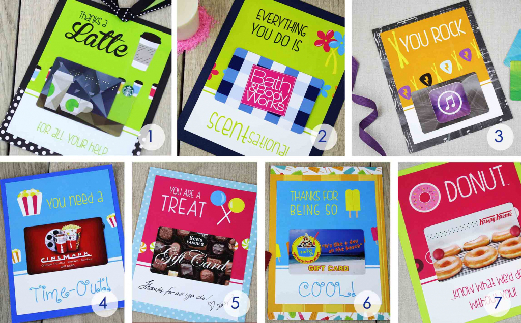 Free Gift Card Holders - Say Thank You With Gift Cards | Giftcards | Printable Starbucks Gift Card