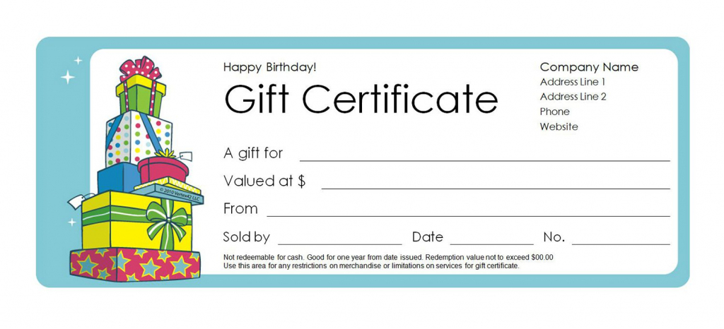 Free Gift Certificate Templates You Can Customize | Free Printable Gift Cards