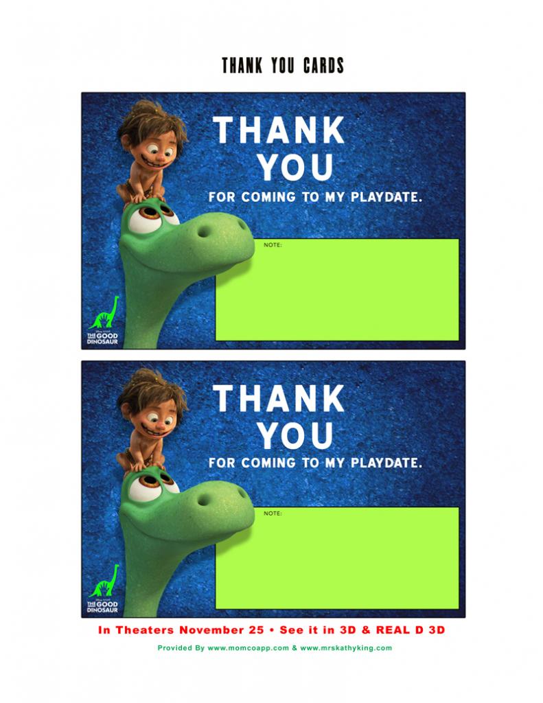 Free Good Dinosaur Play Date Party Printable #gooddinoevent | Free Printable Play Date Cards