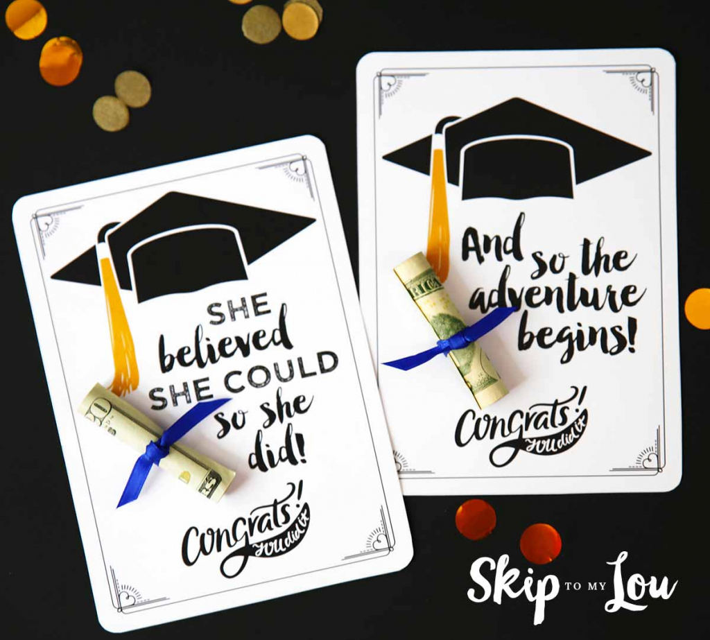 Free Graduation Cards With Positive Quotes And Cash! | Free Printable Graduation Cards