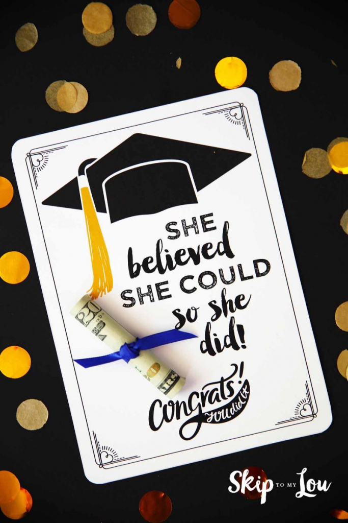 Free Graduation Cards With Positive Quotes And Cash! | Graduation Cards Free Printable Funny