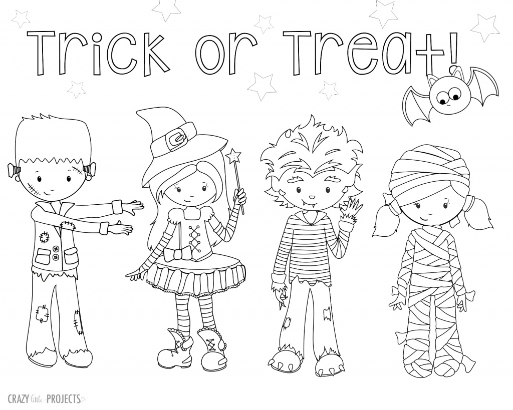 Free Halloween Coloring Pages For Adults & Kids - Happiness Is   Printable Halloween Cards To Color For Free