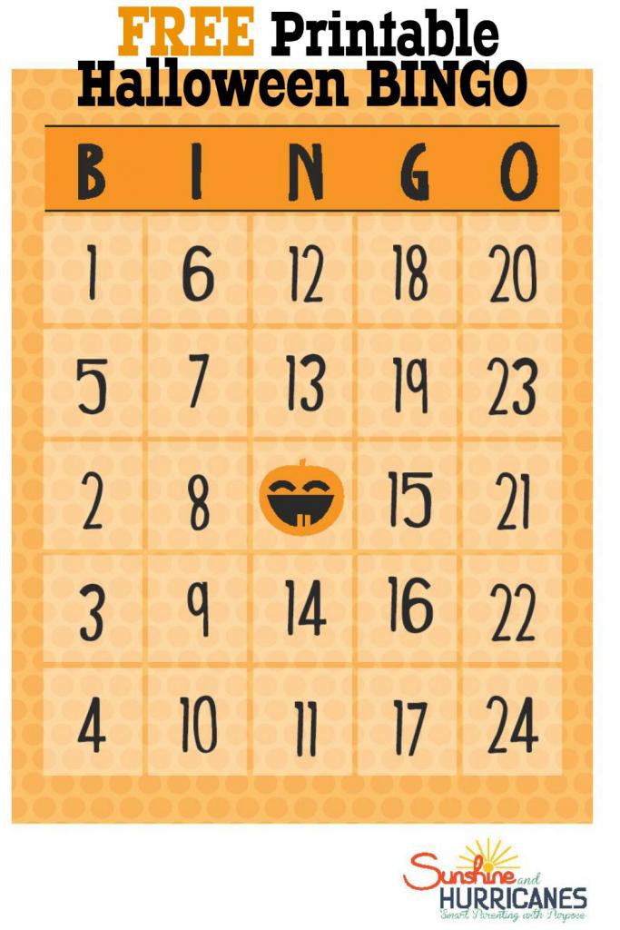 Free Halloween Printables - Bingo   Printable Number Bingo Cards