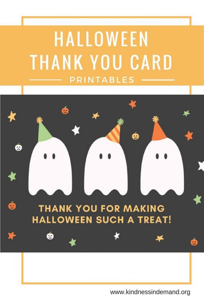 Free Halloween Thank You Card Printables | Halloween | Halloween | Halloween Thank You Cards Printable