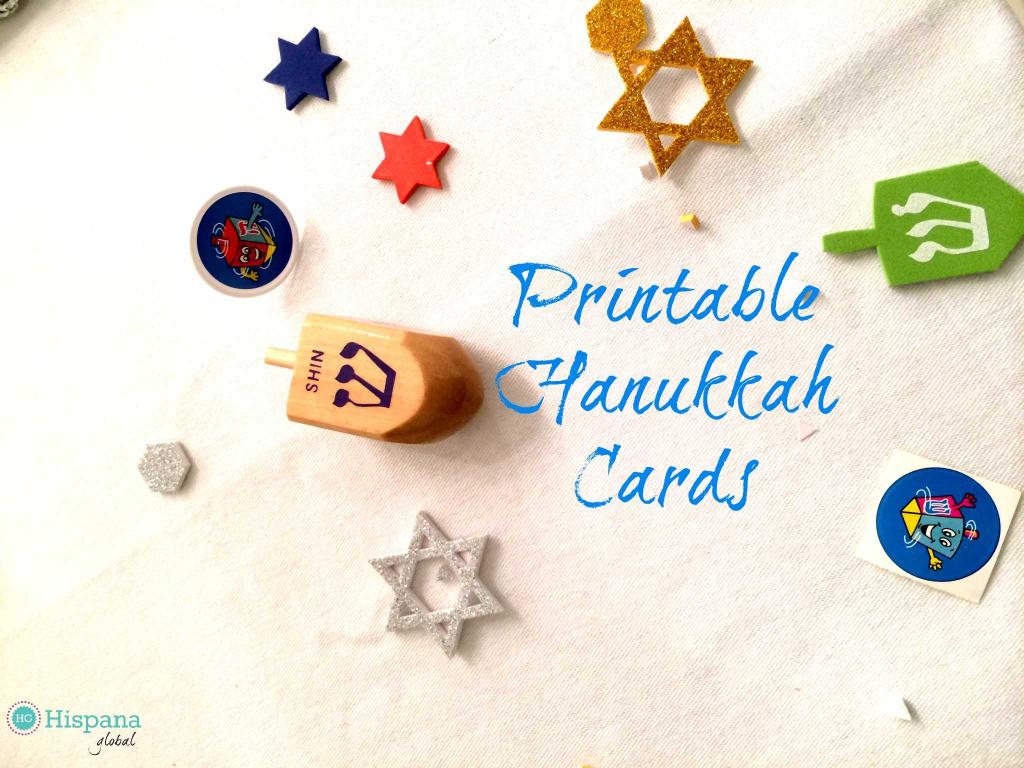 Free Hanukkah Cards - Hispana Global | Printable Hanukkah Cards To Color