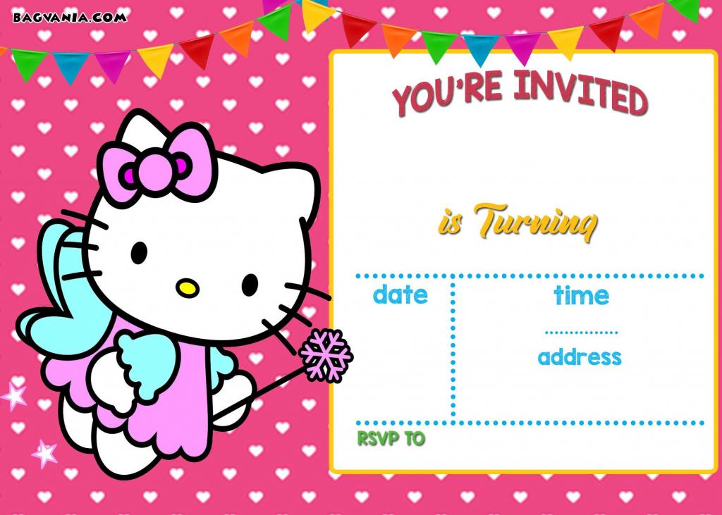 Free Hello Kitty Invitation | Free Printable Birthday Invitation | Hello Kitty Christmas Cards Free Printables