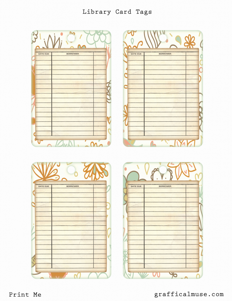 Free Library Card Template | Example Templates | Printable Library Card Template