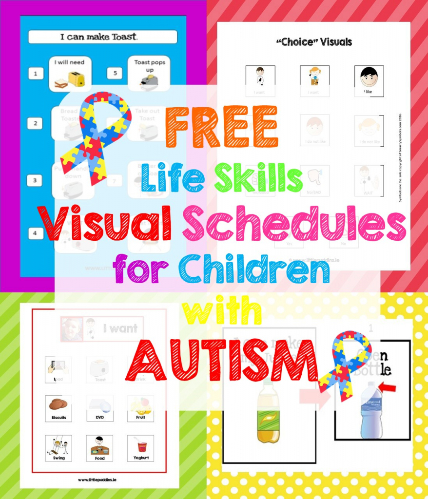 Free Life Skills Printable – Little Puddins Free Printables   Picture Cards For Autism Printable