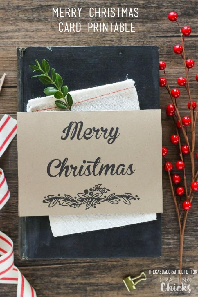 Free Merry Christmas Card Printable   Happy Homemade   Merry   Christmas Cards For Loved Ones Printables
