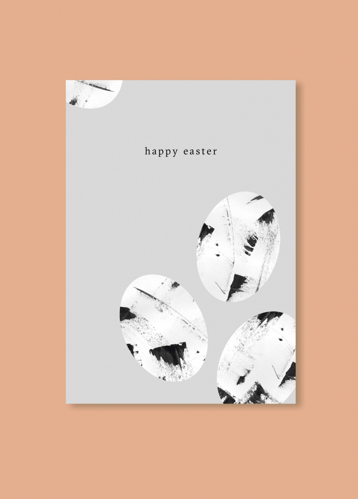 Free Minimalistic Easter Card | Invites // Paper Love | Diy Easter | Free Printable Easter Greeting Cards