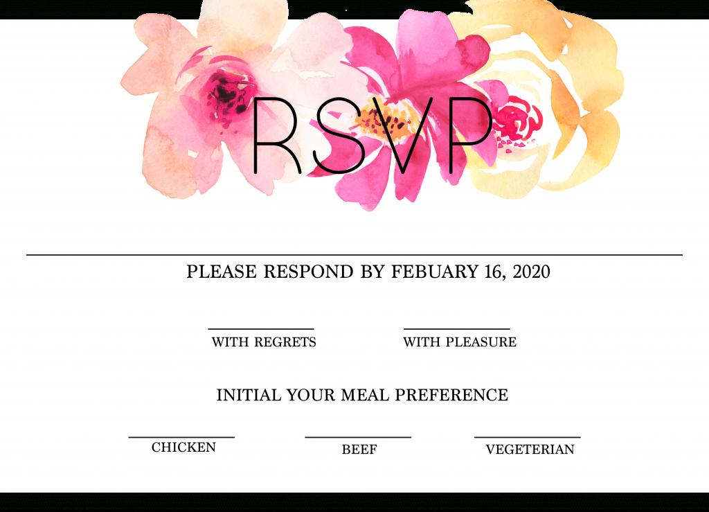 Free Modern Printable Watercolor Wedding Rsvp | Freebies & Free | Free Printable Rsvp Cards