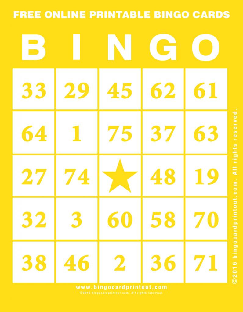 Free Online Printable Bingo Cards - Bingocardprintout   Bingo Cards Online Printable
