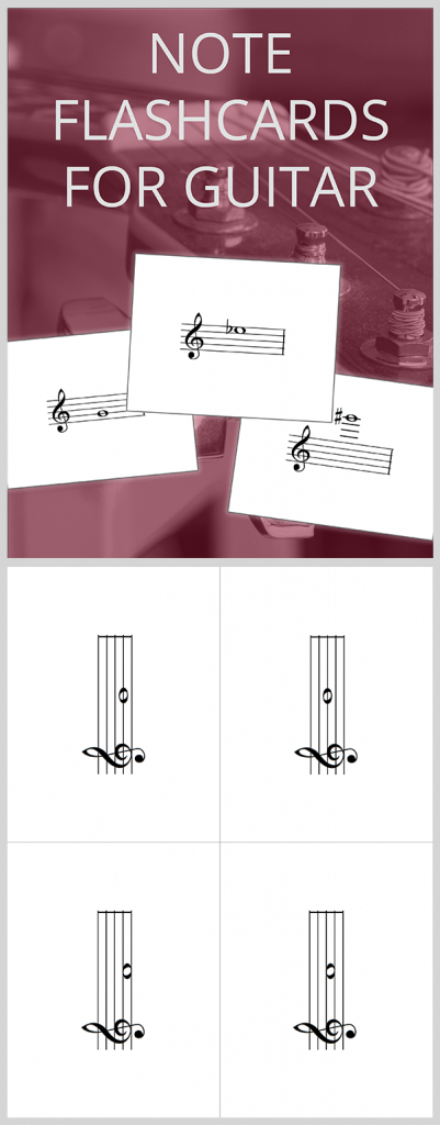 Free Pdf | Note Flashcards For Guitar Download And Print: Notes On | Guitar Chord Flash Cards Printable
