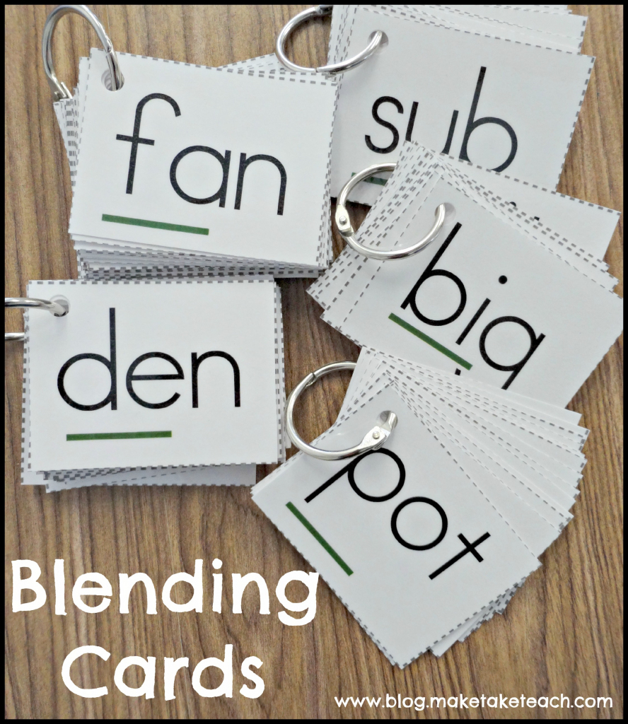 Free Phonics Cue Card - Make Take & Teach - Free Printable Blending | Free Printable Blending Cards