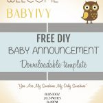 Free Pregnancy Announcement Templates – Kleo.bergdorfbib.co   Free Printable Baby Birth Announcement Cards