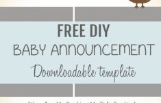 Free Pregnancy Announcement Templates – Kleo.bergdorfbib.co | Free Printable Baby Birth Announcement Cards
