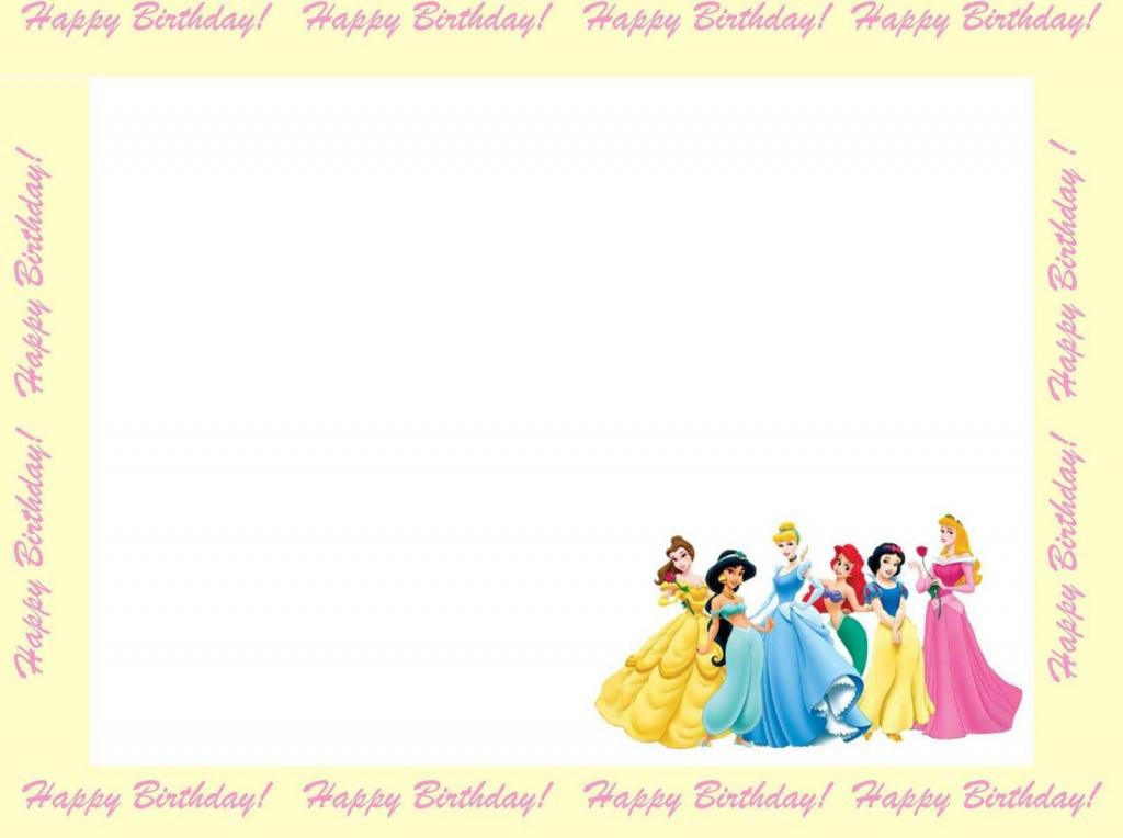 Free Princess Invitations To Print | Free Printable Disney Princess | Free Printable Princess Invitation Cards
