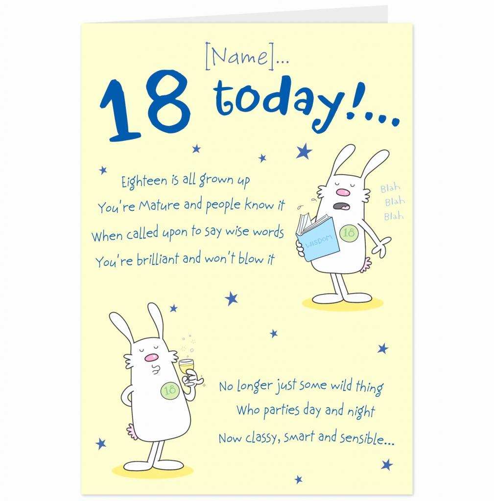 Free Printable 18Th Birthday Cards – Happy Holidays!   Funny 18Th Birthday Cards Printable