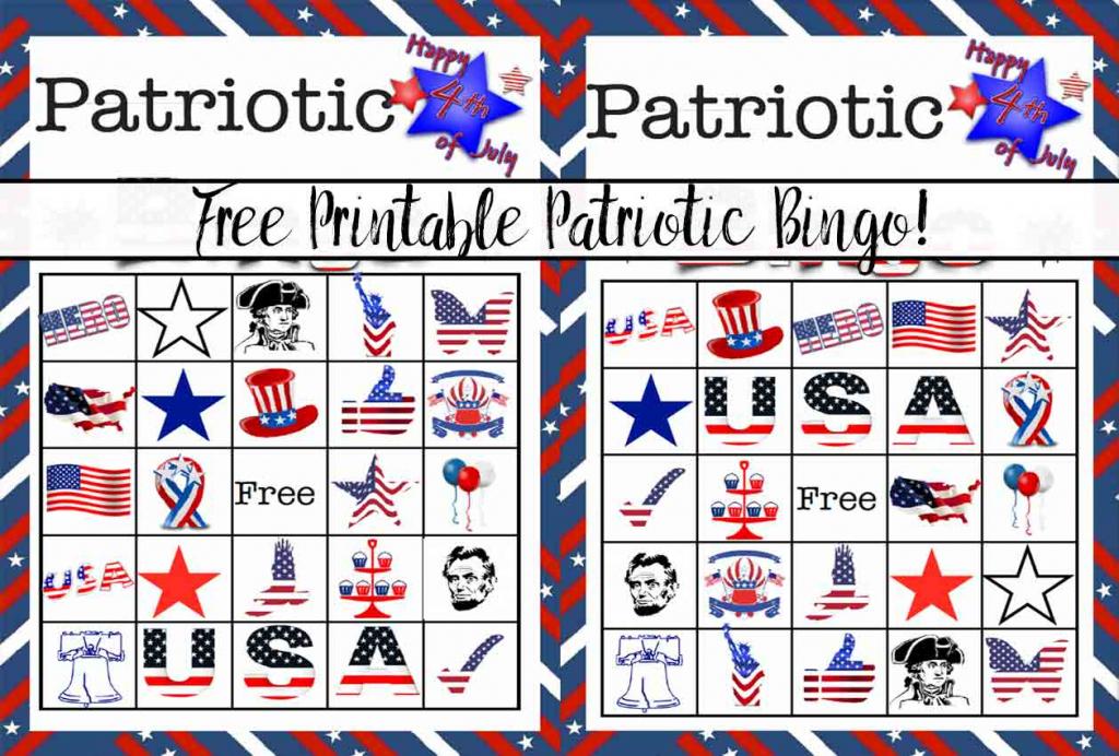 Free Printable 4Th Of July Patriotic Bingo | Happy 4Th Of July Cards Printable