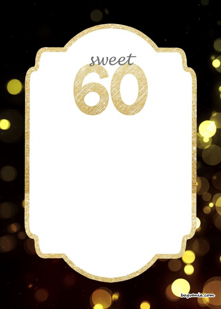 Free Printable 60Th Birthday Invitation | Free Printable Birthday | Printable 60Th Birthday Cards