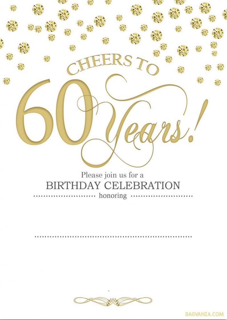Free Printable 60Th Birthday | Kellies 50Th Bday Ideas | 60Th | Printable 60Th Birthday Cards