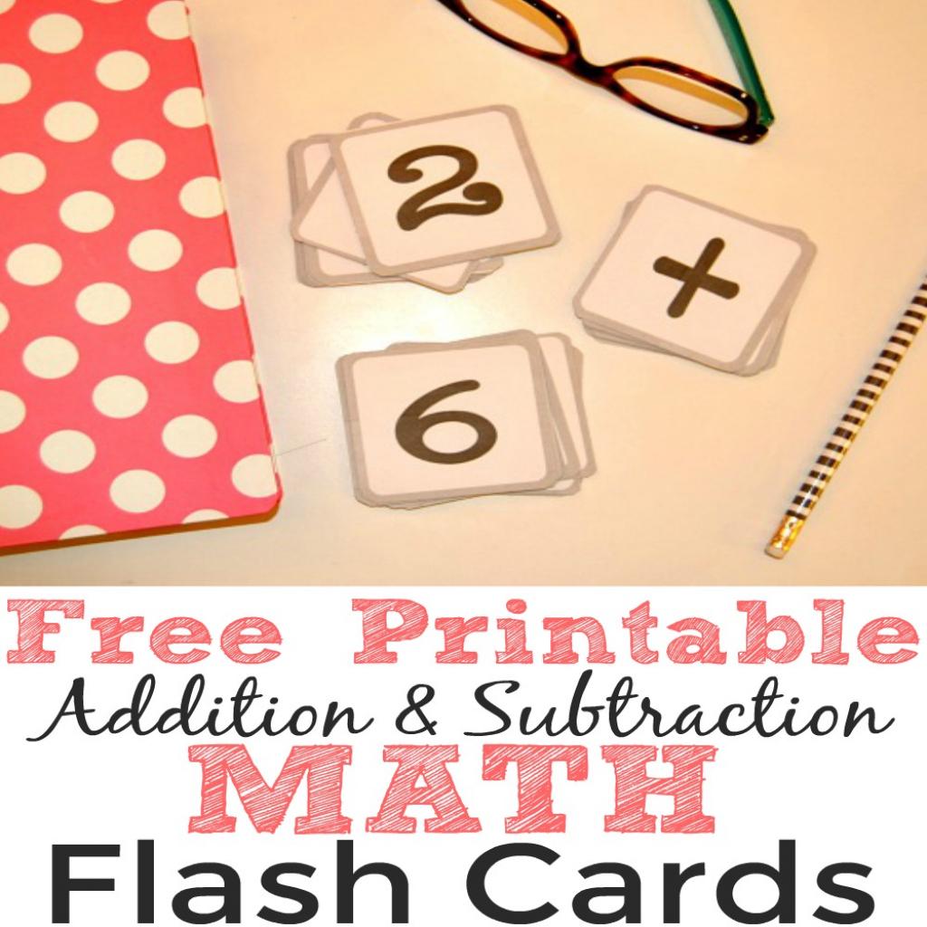 Free Printable Addition And Subtraction Math Flash Cards - Simple | Flash Cards Addition And Subtraction 1 20 Printable