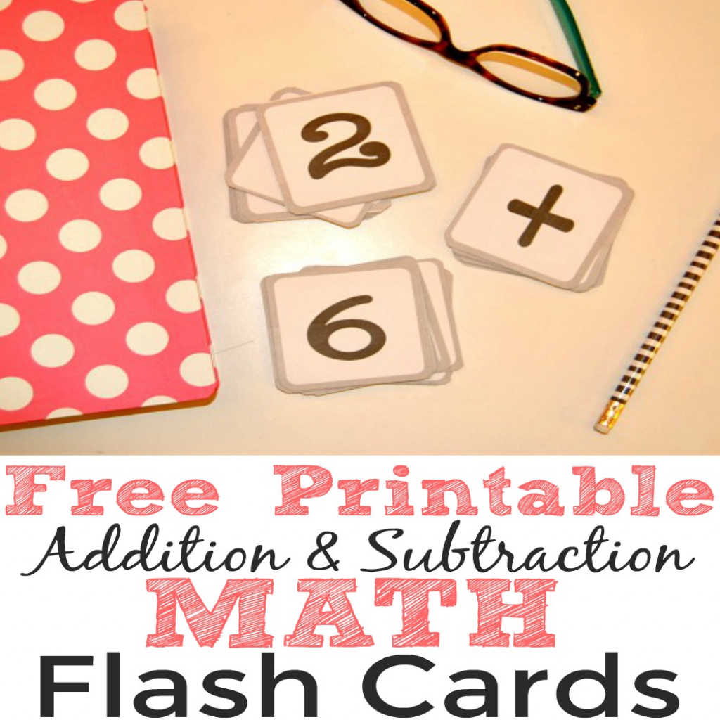 Free Printable Addition And Subtraction Math Flash Cards - Simple | Subtraction Flash Cards Printable