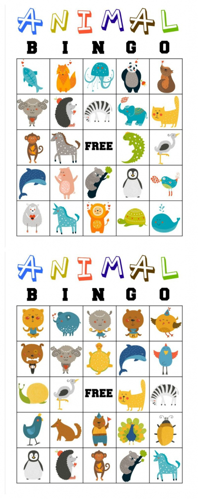 Free Printable Animal Bingo Cards For Toddlers And Preschoolers   Animal Matching Cards Printable