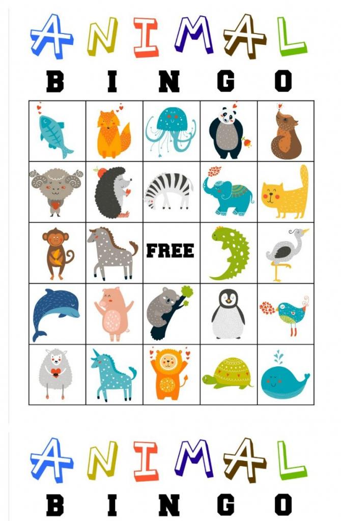 Free Printable Animal Bingo Cards For Toddlers And Preschoolers | Free Printable Animal Cards