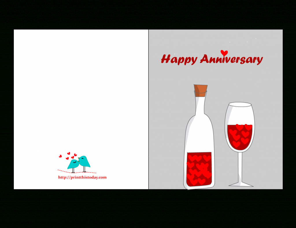 Free Printable Anniversary Cards | Printable Wedding Anniversary Cards