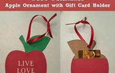 Free Printable Apple Ornament With Gift Card Holder Teachers Gift | Free Printable Christmas Cards With Photo Insert