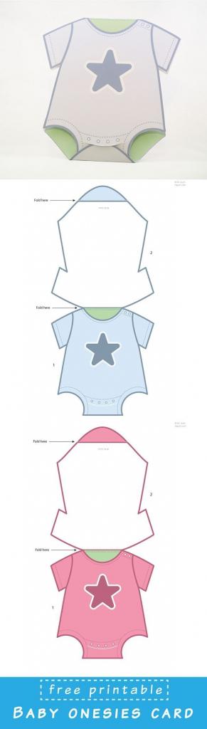 Free Printable Baby Onesies Card Template. Just Dowload And Assemble | Free Printable Baby Cards Templates