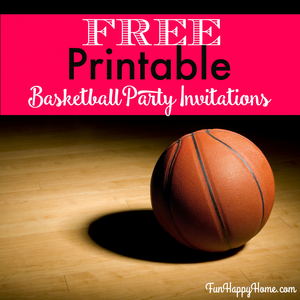 Free Printable Basketball Themed Party Invitations - Fun Happy Home | Free Printable Basketball Cards