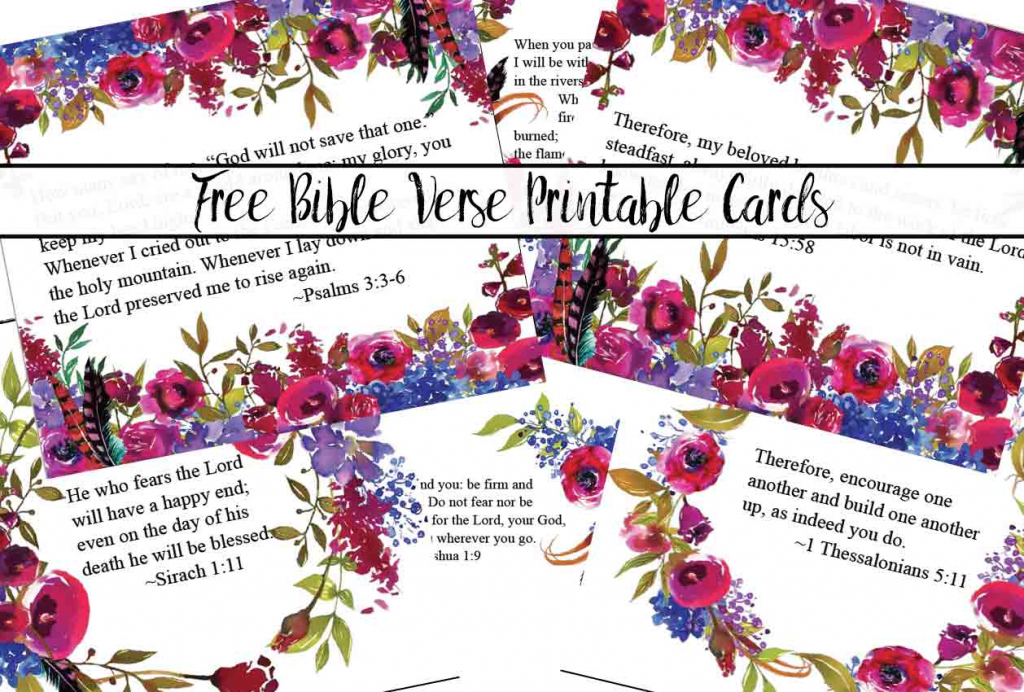 Free Printable Bible Verse Cards For When You Need Encouragement   Free Printable Scripture Cards