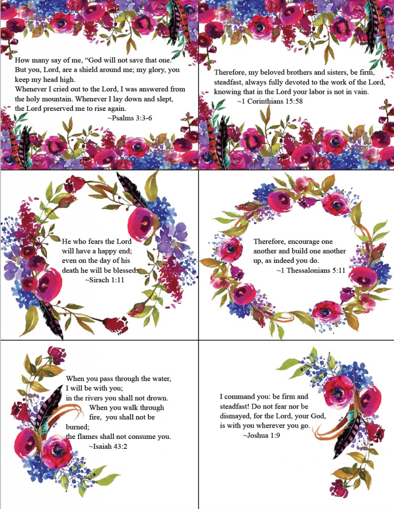 Free Printable Bible Verse Cards For When You Need Encouragement | Scripture Memory Cards Printable