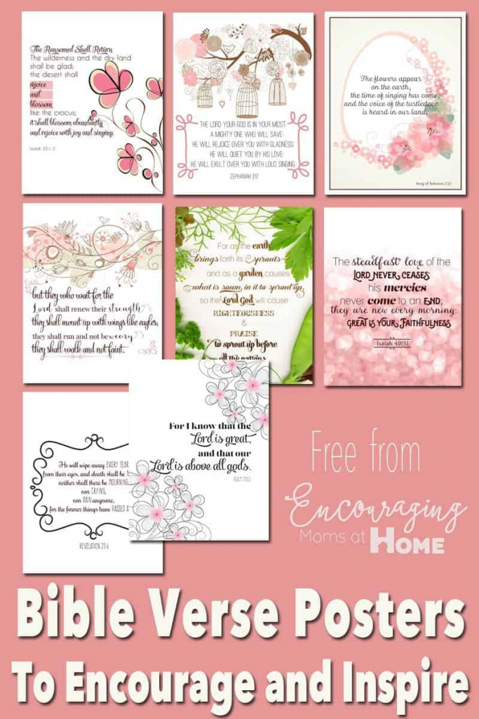 Free Printable Bible Verses To Encourage And Inspire Homeschool Moms | Printable Bible Verse Cards