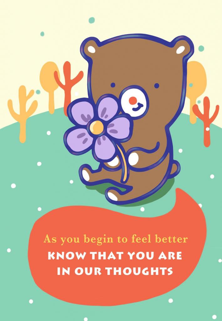 Free Printable Big Hugs And Warm Wishes Greeting Cardlittlestar | Feel Better Card Printable