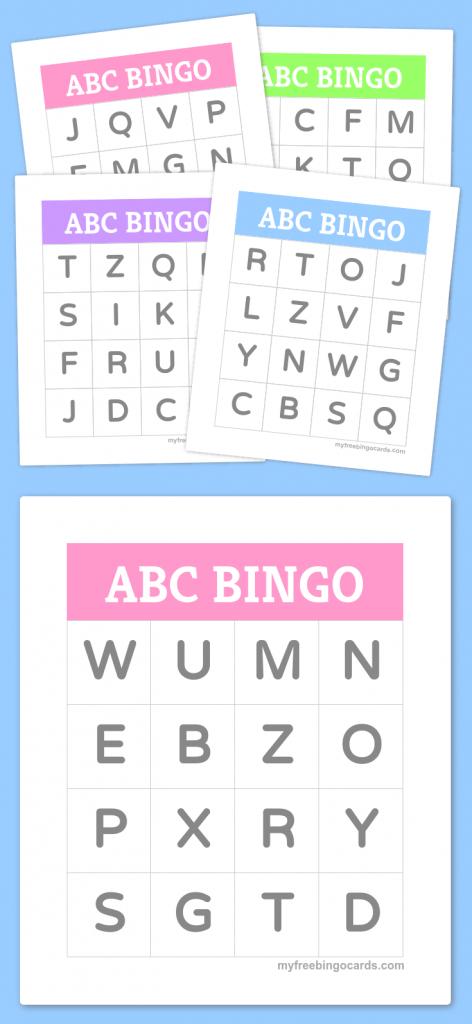 Free Printable Bingo Cards   Bingo Cards   Alphabet Bingo, Preschool   Abc Bingo Cards Printable