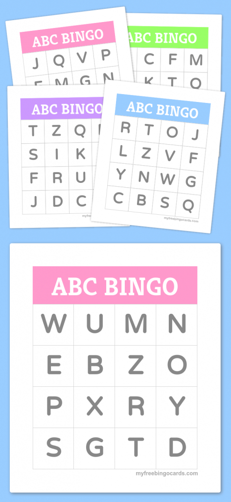 Free Printable Bingo Cards   Bingo Cards   Alphabet Bingo, Preschool   Shapes Bingo Cards Printable