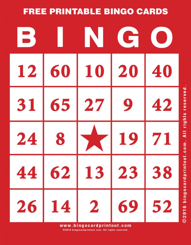 Free Printable Bingo Cards - Bingocardprintout   Free Printable Bingo Cards For Large Groups