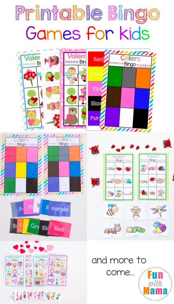 Free Printable Bingo Cards For Kids - Fun With Mama | Printable Bingo Cards 2 Per Page