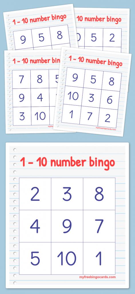 Free Printable Bingo Cards   Math   Bingo, Numbers Preschool   Free Printable Bingo Cards With Numbers
