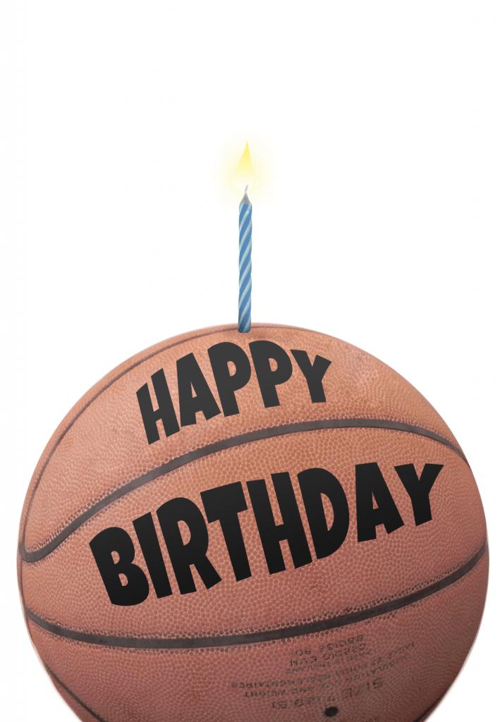 Free Printable Birthday Card - Basketball | Greetings Island | Printable Sports Birthday Cards