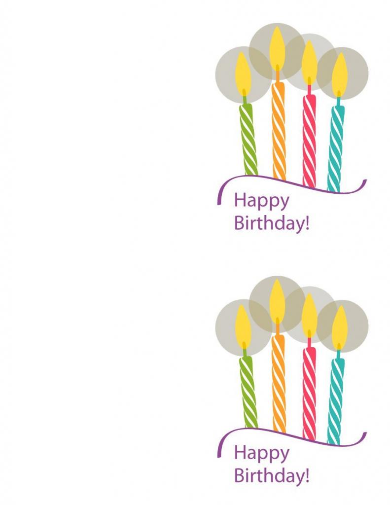 Free Printable Birthday Card Template - Kleo.bergdorfbib.co   Happy Birthday Free Cards Printable