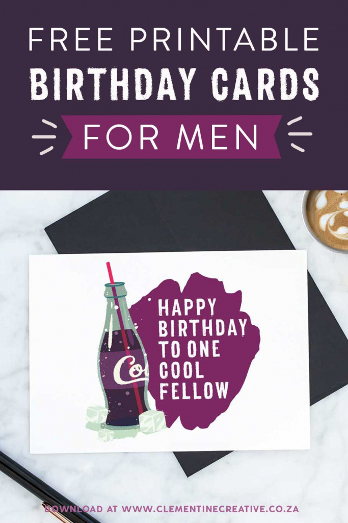 Free Printable Birthday Cards For Him | Printables, Invitations | Free Printable Happy Birthday Cards For Dad