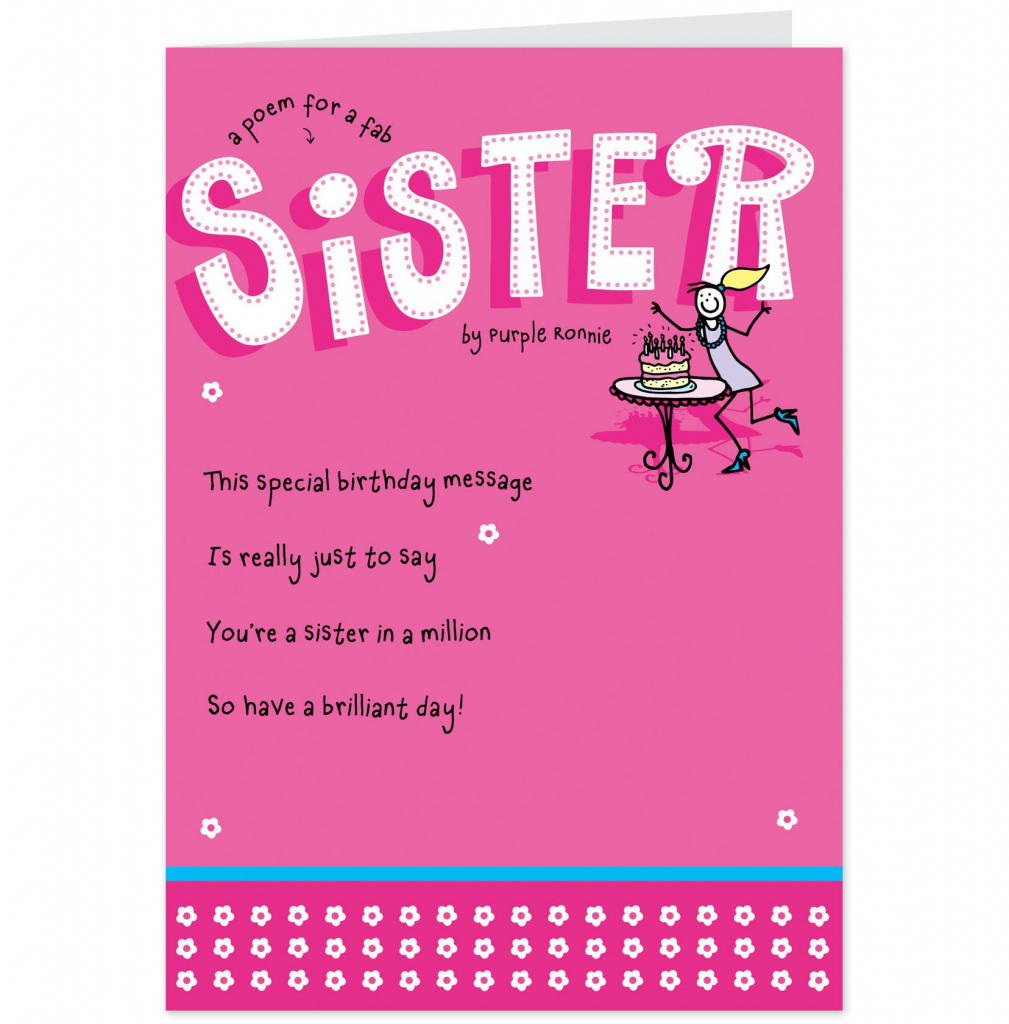 Free Printable Birthday Cards For Sister – Happy Holidays!   Printable Birthday Cards For Sister