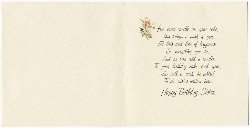 Free Printable Birthday Cards For Sister   My Birthday   Vintage   Printable Birthday Cards For Sister
