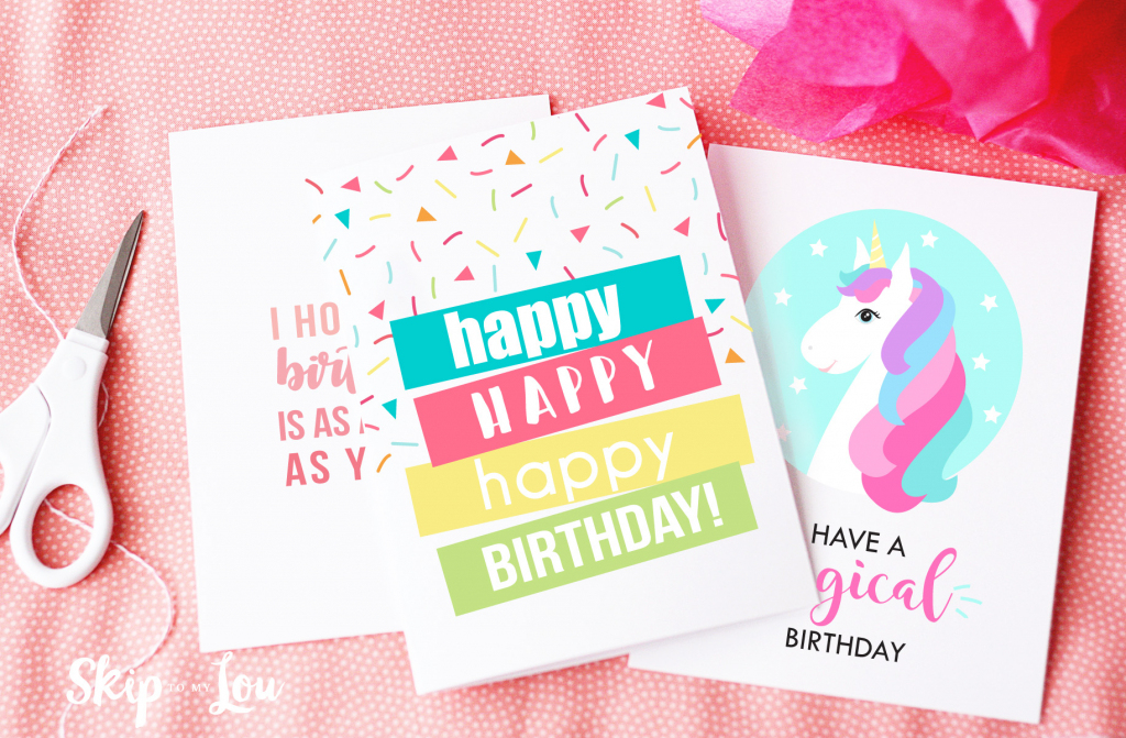 Free Printable Birthday Cards | Skip To My Lou | Free Printable Birthday Cards For Adults